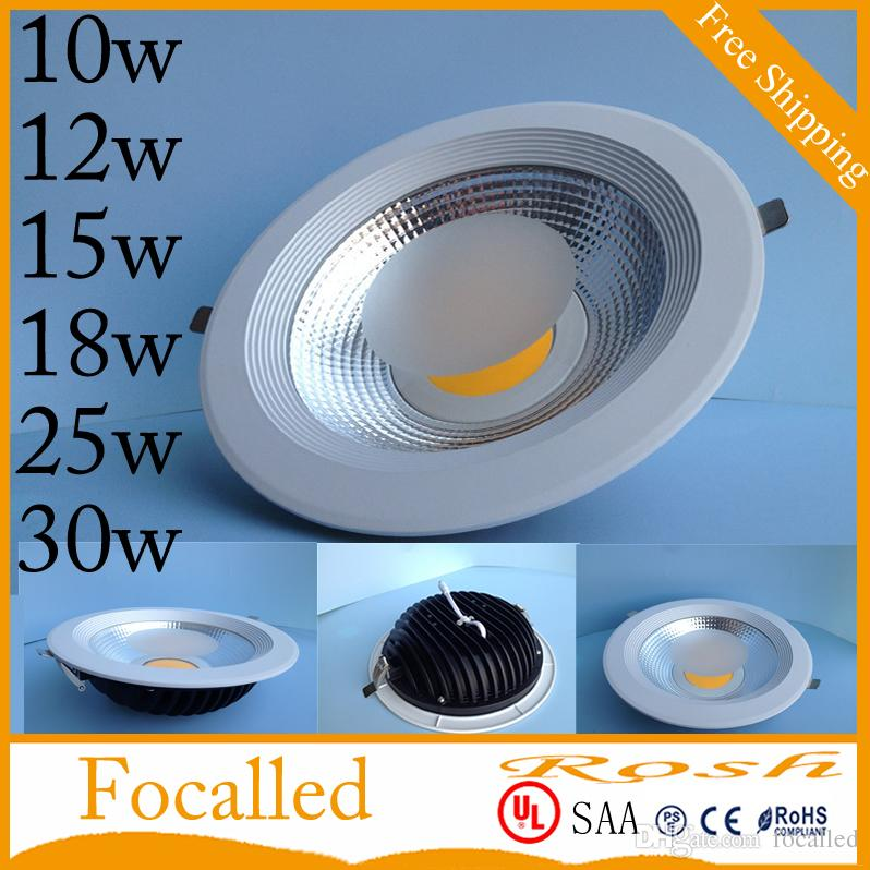 High Color Cob Led Recessed Downlight Dimmable 10w 12w 15w 18w 25w ...