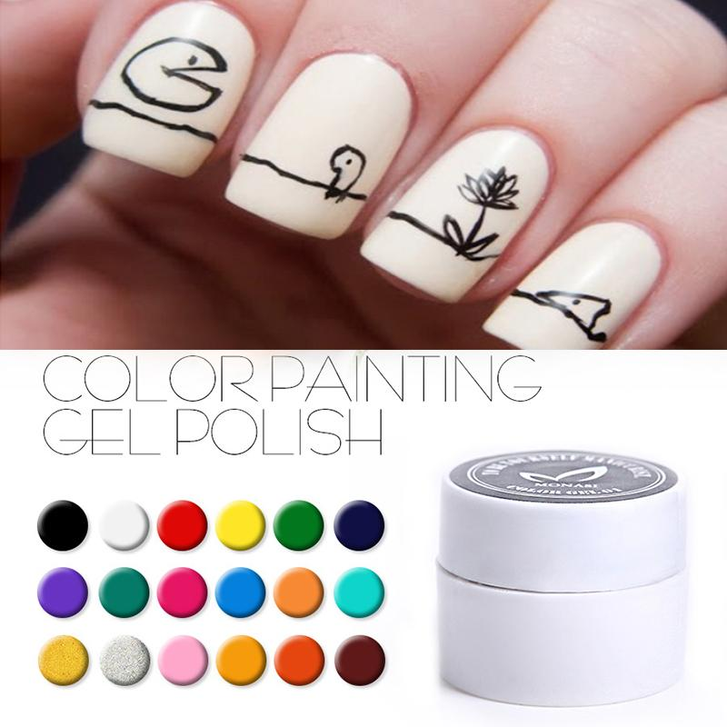 Wholesale MONASI Nail Art Paint Color Gel Natural Color Nail Gel ...