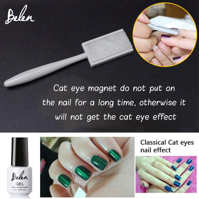 Art Belen All Cat Eye Polish 1 Nail Art Magnetic Led UV Gel Nail ...