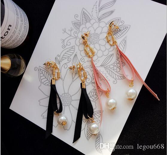 Nya vilda band långa temperament örhängen söt och härlig kvinnlig personlighet enkla örhängen pärla örhängen