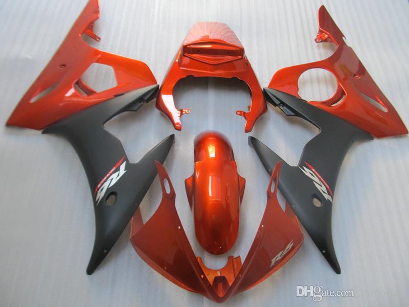 Kit de carenado de partes del cuerpo del mercado de accesorios para Yamaha YZF R6 03 04 05 Carenados de vino rojo negro set YZF R6 2003-2005 OT14