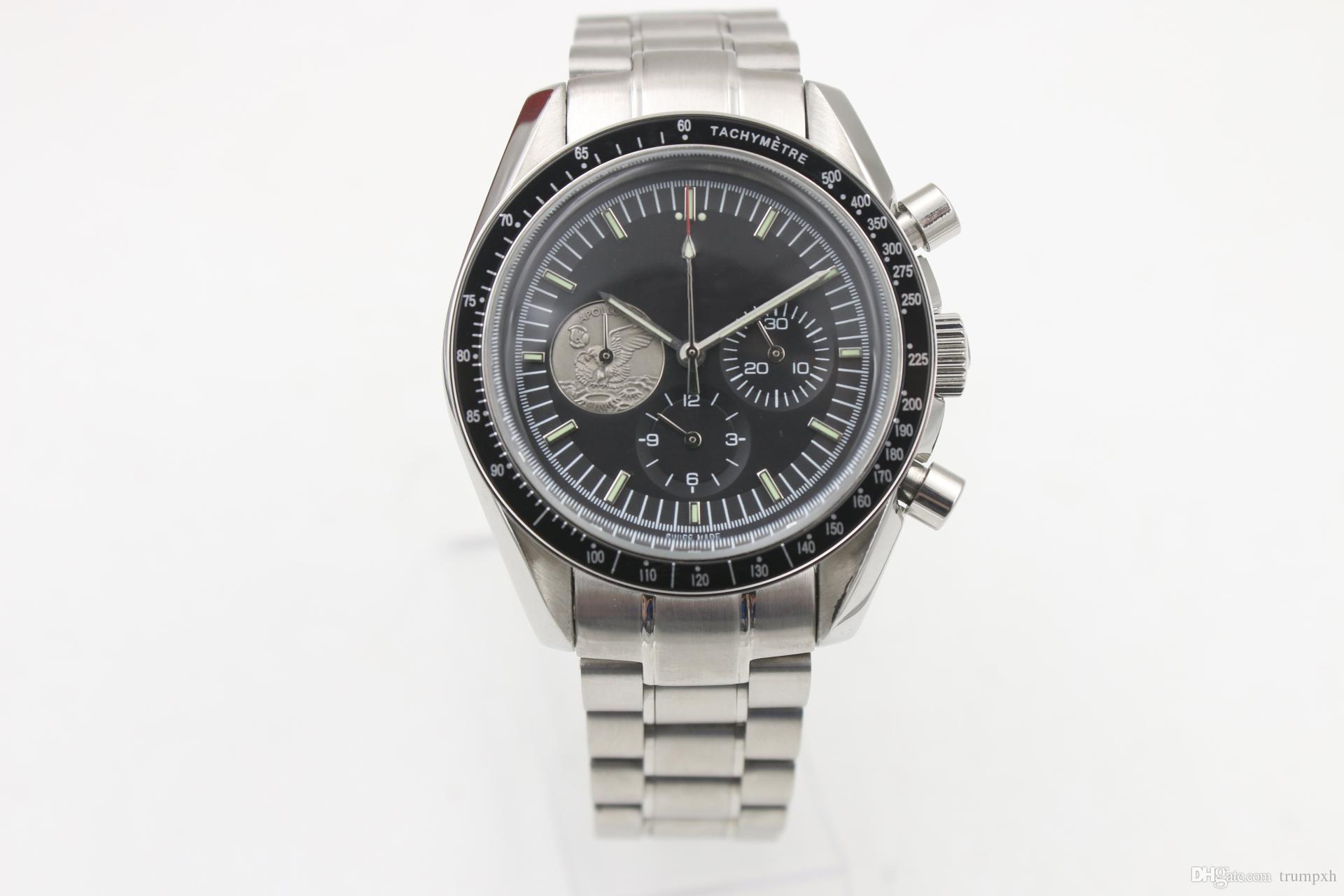 4f1daedbe18e Compre Edición Limitada Hombres Cuarzo Cronógrafo Reloj Luna Maestro Zafiro  Maestro Original Hebilla De Acero Inoxidable De Alta Calidad A  80.21 Del  ...