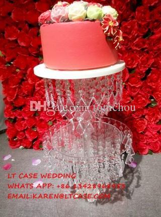 Acrylic crystal wedding cake stand wedding decoration props of acrylic crystal wedding cake stand wedding decoration props of wedding table centerpiece birthday celebration items birthday decor from tomchou junglespirit Image collections