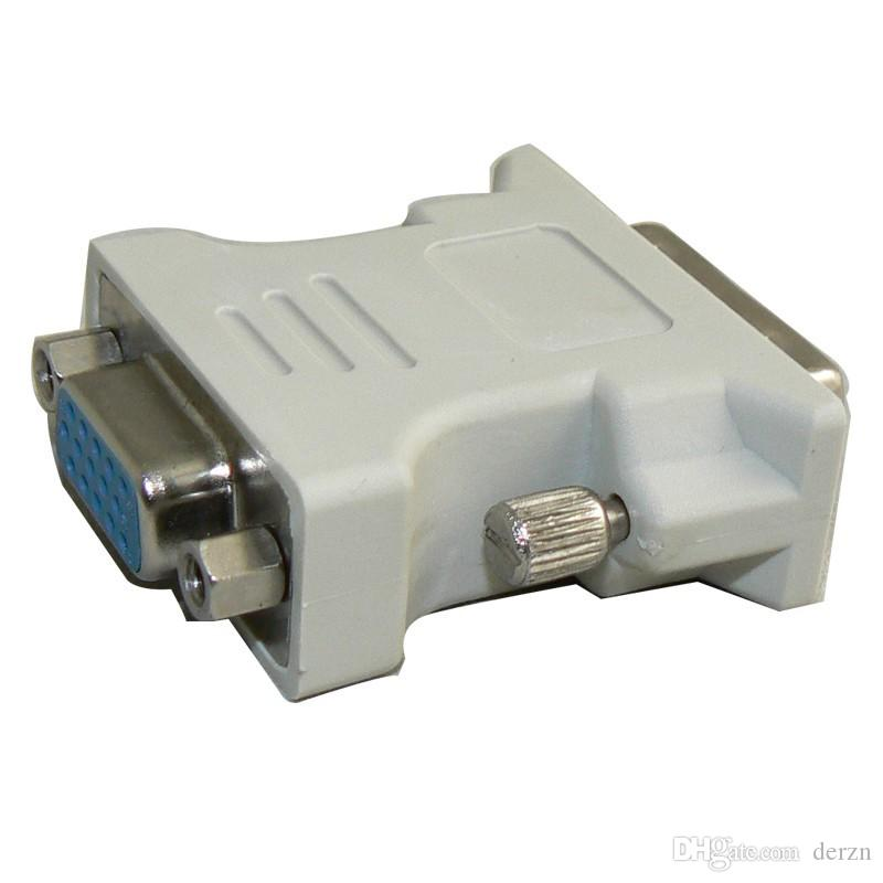 Cheap VGA to DVI Adapter DVI 24+1 24+5 Male Convert To 15 Pin VGA Female Cable Adapter Converter For PC HDTV