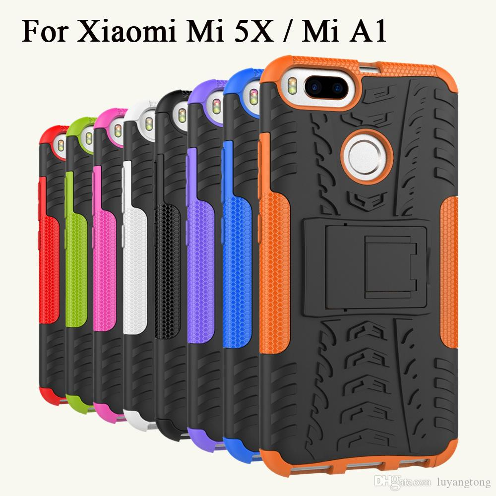 best loved c008a bf0fd Phone Cover For Xiaomi A1 Case Hybrid Armor Case Heavy Duty Protection  Cover For Xiaomi Mi A1 Covers Casing MiA1