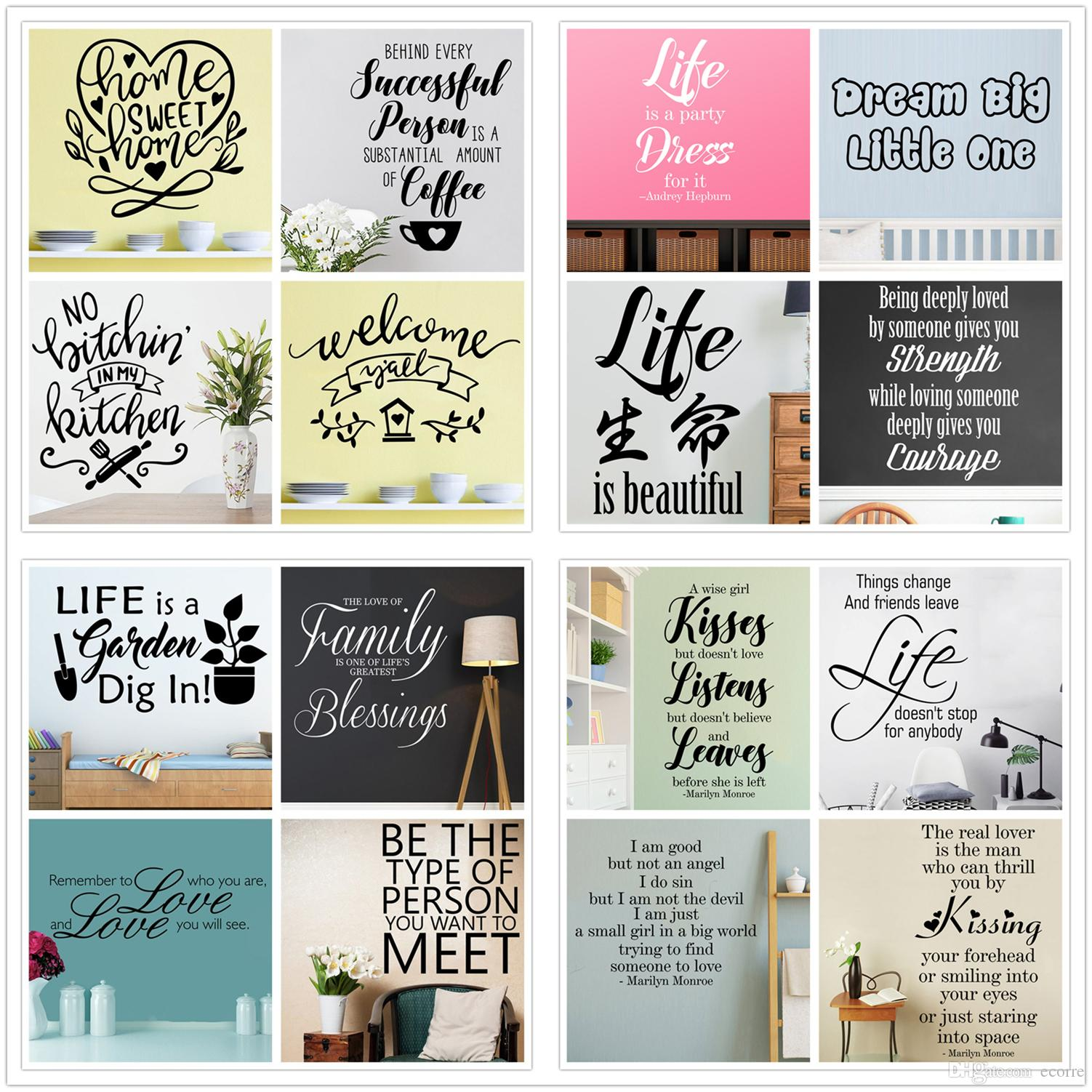 Famous Quotes Wall Sticker Inspirational Wall Decal Vinyl Removable Wall Letters Phrase And Sayings Stickers Home Decor Decal Wall Murals Decal Wall Quotes ...  sc 1 st  DHgate.com & Famous Quotes Wall Sticker Inspirational Wall Decal Vinyl Removable ...