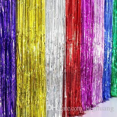 Tassel Curtain Wedding Party Decorations 1m*2m Ribbon Tassel Curtain ...