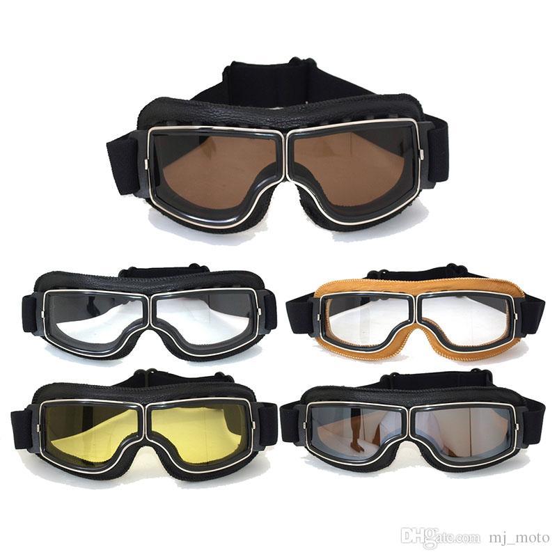 87142b44b59 Motorcycle Goggles WWII Vintage For Harley Style Pilot Motorbike Goggles  Retro Jet Helmet Eyewear Lens HZYEYO FJ002 Victory Motorcycle Sunglasses  What Are ...