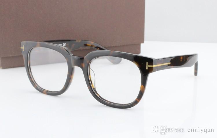 Klasik Retro Şeffaf Lens Gözlük Çerçeveleri Gözlük Marka Tasarımcısı Erkek Kadın Gözlük Modeli 5179 Vintage Tahta Gözlük Miyopi Gözlük Çerçevesi