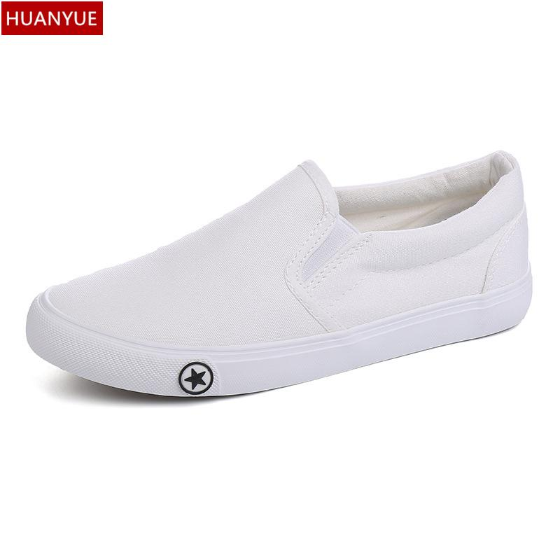 e1682a46dd8c Wholesale HUANYUE Fashion 2016 Solid Black White Men S Shoes For Men Casual  Shoes Canvas Mens Summer Fashion Male Zapatos Breathable A354 Formal Shoes  For ...