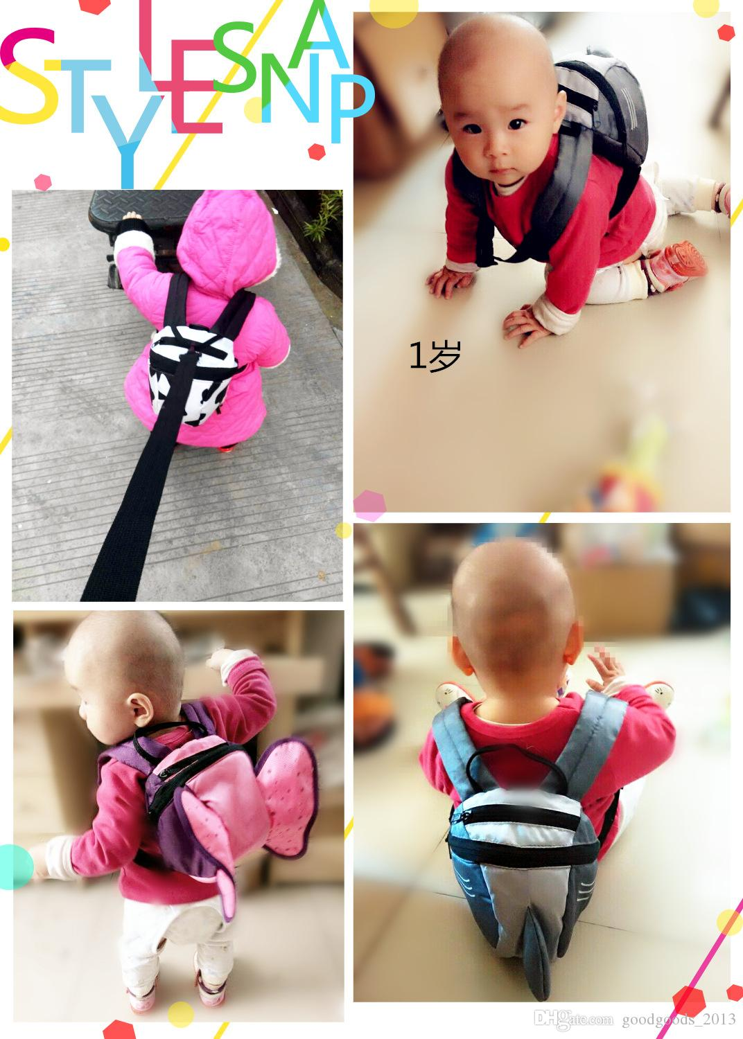 Wholesale Animal Toddler School Bags Cartoon Childrens Hiking Backpacks baby Anti lost backpack boys girls Weekend Bag Satchel Bag b1380