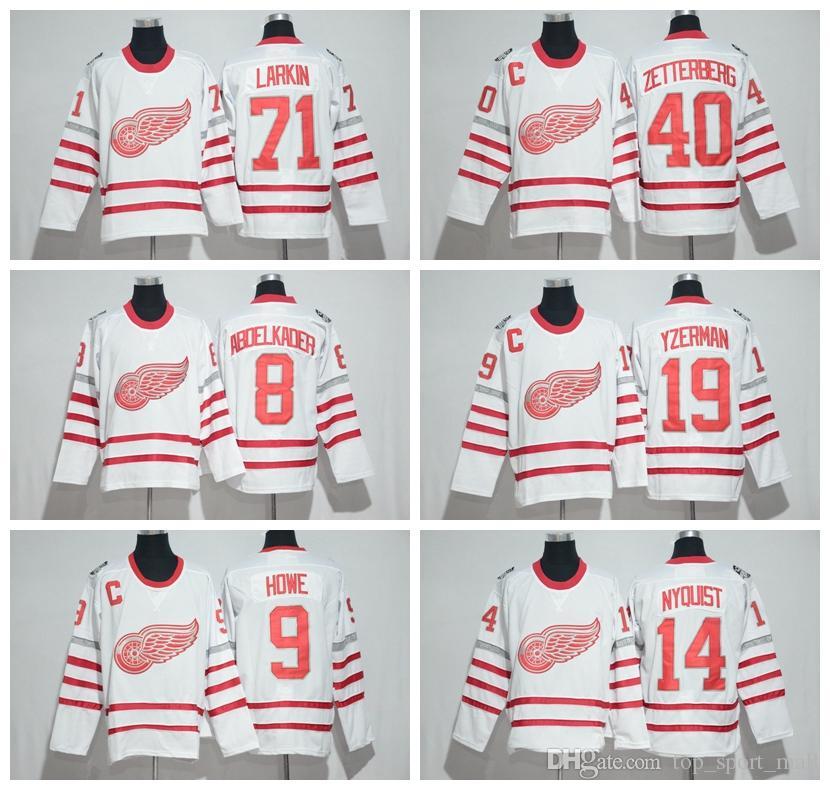 4fba6218d33 ... dylan larkin reebok premier 2017 centennial classic jersey white 73832  749fc; new zealand best 2017 centennial classic detroit red wings jerseys  hockey ...