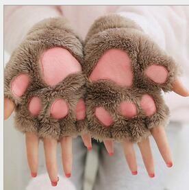 Halloween noël étape effectuer prop cosplay chat ours patte griffe gant parti faveurs hiver mignon haute qualité femme bande dessinée chat gants