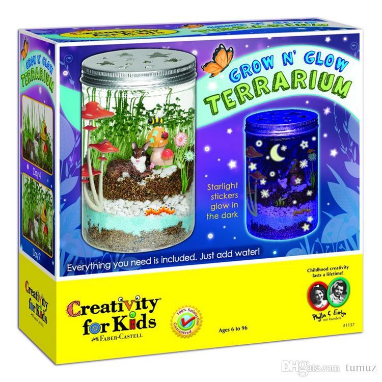 لعب الأطفال الإبداعية بالجملة سوف ترتعب الإبداع تررم زجاجات الكريستال سوف تنمو النباتات