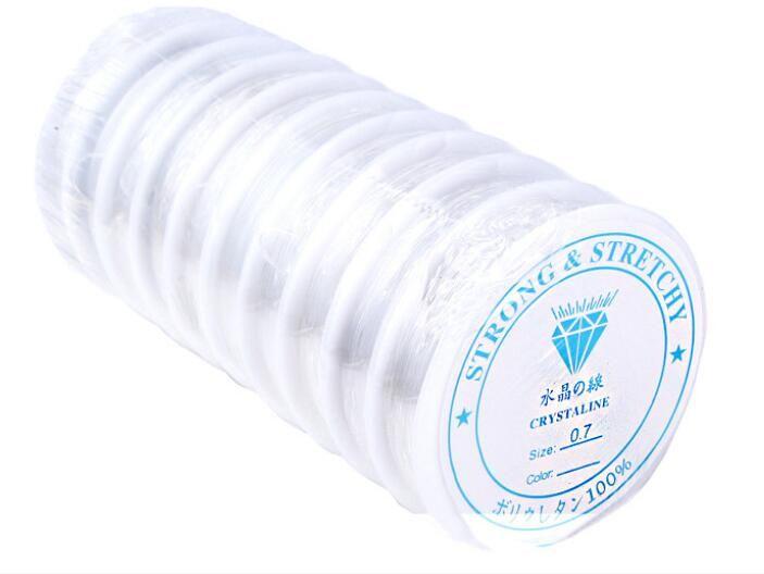 Livraison Gratuite 10 Rouleaux / Blanc Stretch Élastique Cordons Perles Cordons Pour DIY Artisanat Bijoux Constatations Composants WS38