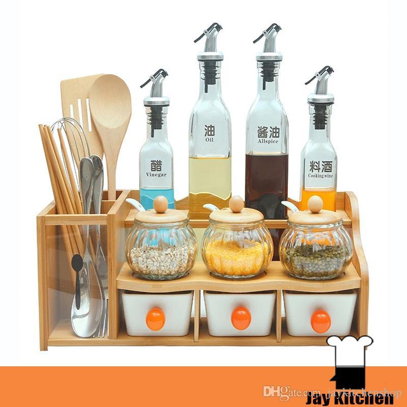 Kitchen Storage Organization Salt Pig With Spoon Spice Container Set Wine  Bottle 500ml Ceramic Spice Box Seasoning Bowls Kitchen Storage Organization  Salt ...
