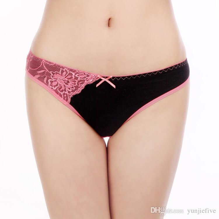 974c18ccc1 Yun Meng Ni Sexy Underwear Stripe Lace Gilrs Briefs Breathable Cotton  Panties For Women Sexy Underwear Ladies Briefs Cotton Panties Online with   14.43 Piece ...