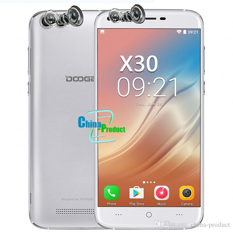 DOOGEE X30 3G WCDMA 5.5 inch Smart Phone 2 Front&2 Back Camera Android 7.0 2GB RAM 16GB ROM GPS Wifi Dual Sim Quad Core Mobile phone