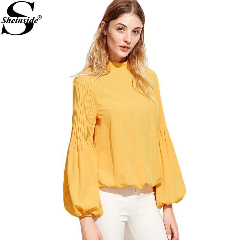 2017 Sheinside Womens Shirts Women Long Sleeve Blouse Ladies ...