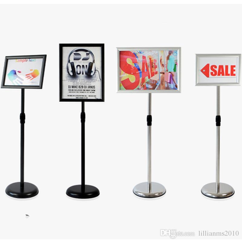 Ayarlanabilir Kaide Poster Standı Alüminyum Yapış Açık Çerçeve Için A4 Grafik / Poster, Hem Dikey ve Yatay Görünüm Burcu Ekran