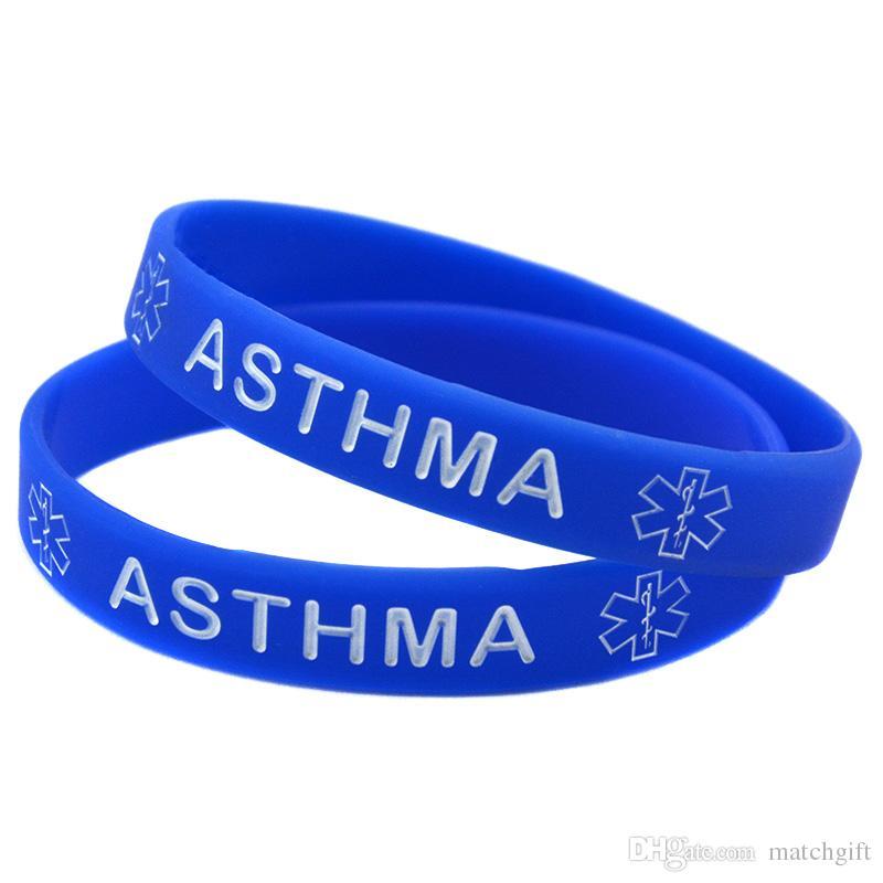 2018 Medical Alert Asthma Awareness Silicone Bracelet