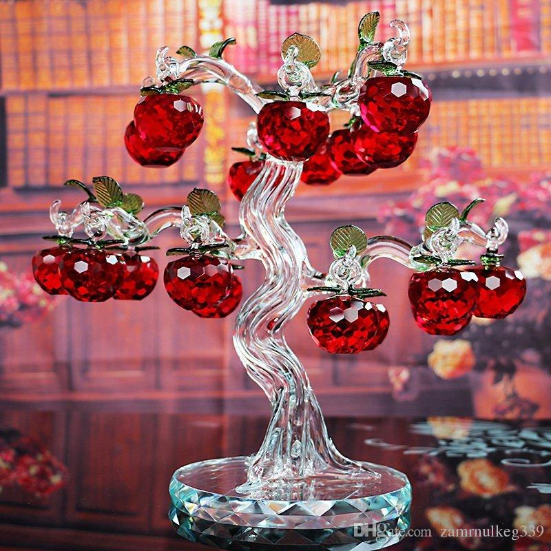 2019 Beautiful Red Crystal Apple Tree Lucky Home