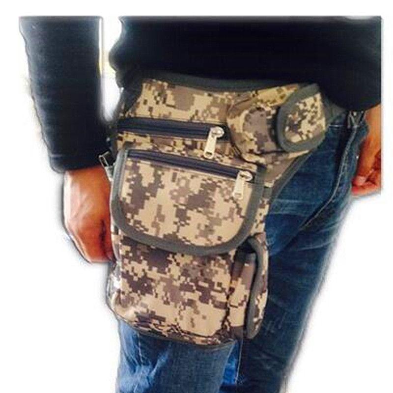 Cycling Leg Bag Waterproof Outdoor Sport Utility Leg Bag Tactical Army Fan Thigh Pockets Bag Back