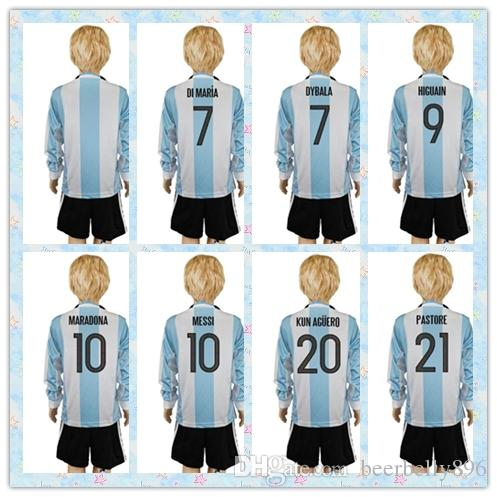 the best attitude 2d8be 96ed1 messi argentina jersey youth