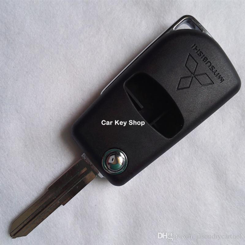 Sol Bıçak Modifiye Çevirme Katlanır Uzaktan Araba Anahtarı Durum Kabuk Için Mitsubishi Pajero Spor Yedek Kabuk 2 Düğme