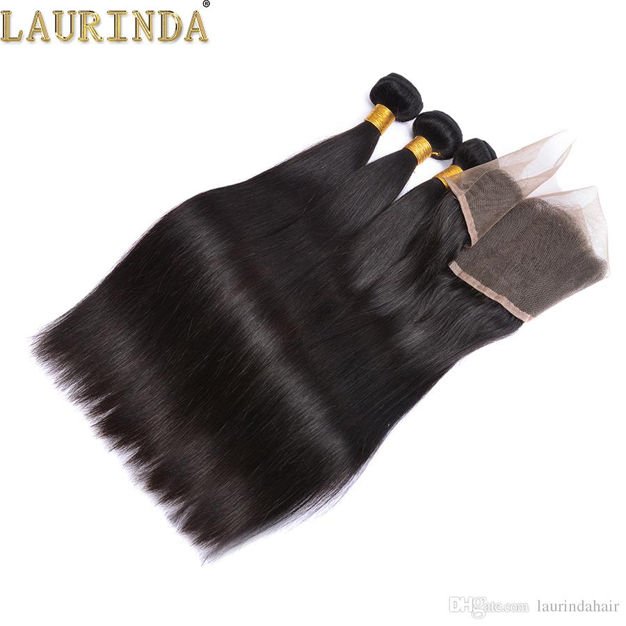 Laurinda 13*4 Lace Frontal closure Straight Brazilian Human Hair Weaves 9A Mink Brazilian Virgin Hair Product Lace Frontal Closure