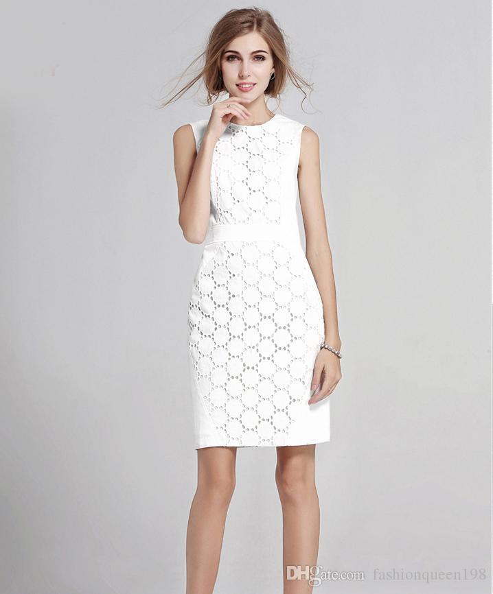 Summer White Lace Dress Plus Size Women 2017 Fashion Vestidos