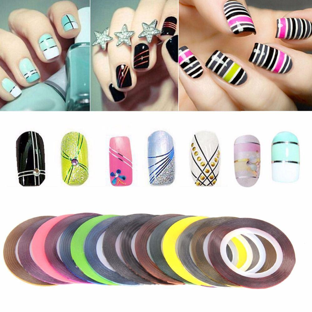 Fashion 30 colour rolls striping tape line nail art decoration see larger image prinsesfo Choice Image