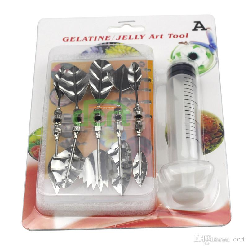 Factory Directly 10 Kinds 3D Jelly Art Tools DIY Flower Jello Cake Gelatin Pudding Nozzle A-J