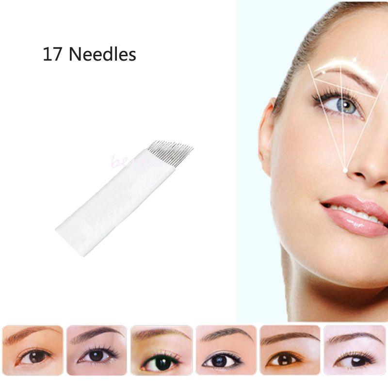 17pin Eyebrow Tattoo Makeup Microblading Needles Sterilized
