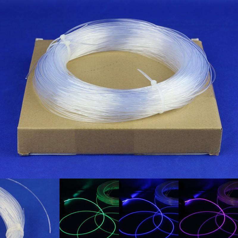 للديكور الأعياد الألياف البصرية كابل الوهج البلاستيك واضح خط الألياف البصرية قطرها 0.75 ملليمتر XX2M لكل حزمة