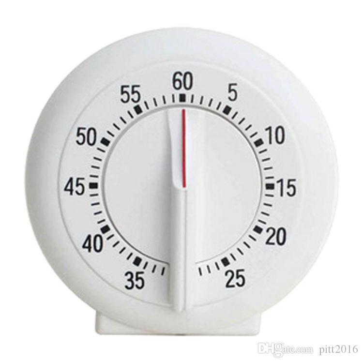 Beyaz renkler Mini Yuvarlak Şekil Mekanik Zamanlayıcı mutfak zamanlayıcılar Pişirme Laboratuvar zamanlayıcı geri sayım hatırlatma zamanlayıcılar Çalar Saat 1 - 60 Dakika