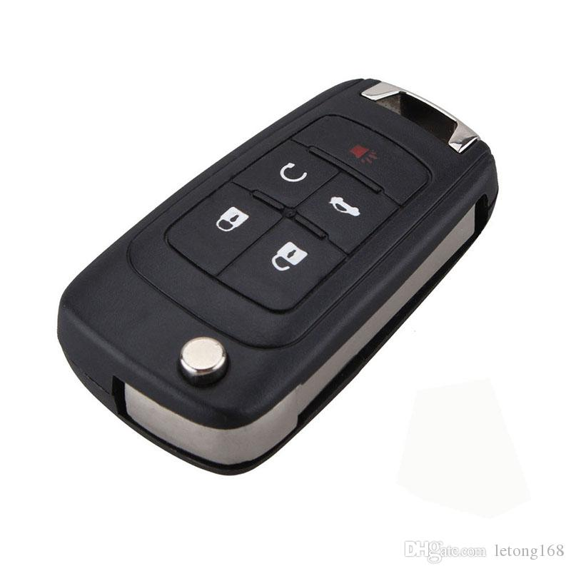 Buick Excelle Verano LaCrosse Regal 자동차 알람 하우징 열쇠가없는 항목 FOB 케이스를위한 접이식 원격 키 쉘 100 % 플립
