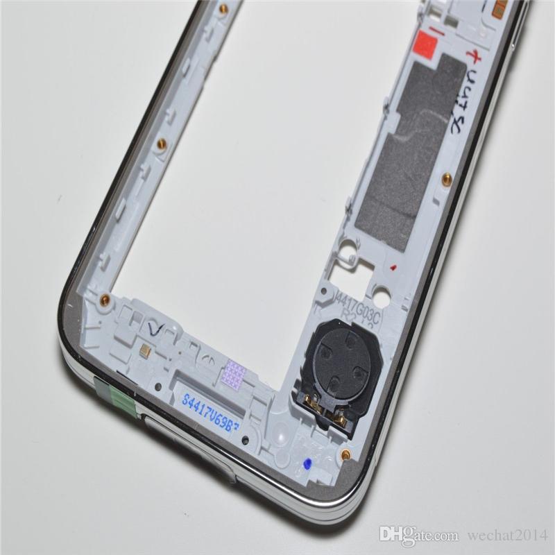 Oem الإطار الأوسط الحافة الخلفية الإسكان الخلفي مع استبدال أجزاء لسامسونج غالاكسي s5 g900 g900a g900t g900p g900v g900f الشحن dhl