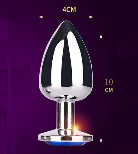 EXTRA LARGE Stainless Steel Attractive Butt Plug Jewelry / Jeweled Anal Plugs / Rosebud buttplugs sex toys