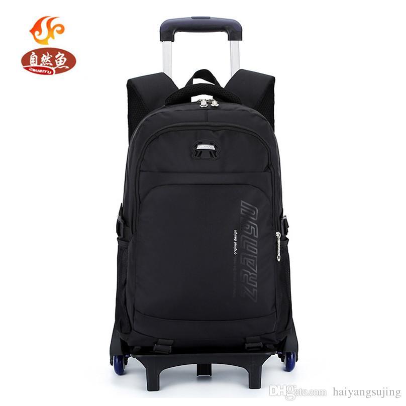 Boy Waterproof Trolley Bag With Backpack Shcool Kids Rolling Children STravel  Luggage 2 6 Wheels School Leisure Suitcase Sports Bags Rucksack Bags  Backpacks ... 60af0ebc0f