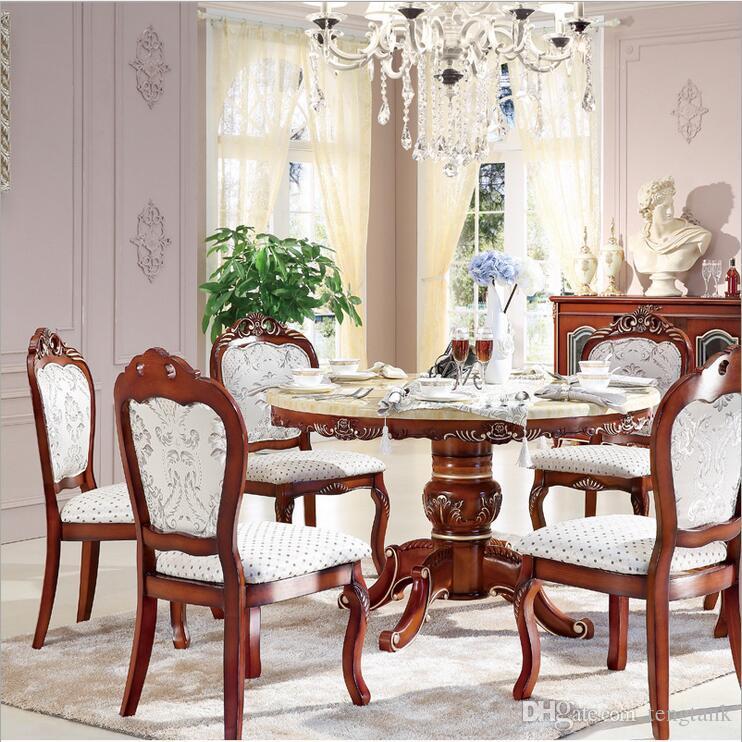 Acheter Table De Salle À Manger À Lu0027italienne De Style Antique, 100% Bois  Massif Table À Manger En Marbre De Style Italien De Style P10243 De  $1608.05 Du ...