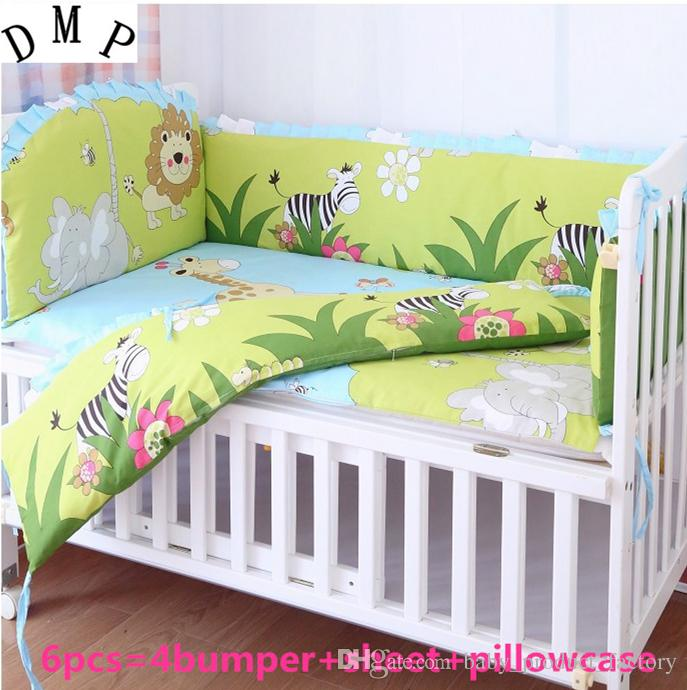 Promotion! Baby Kit Crib Cot Bedding Sets Bumpers Baby Sheet bumpers+sheet+pillow cover