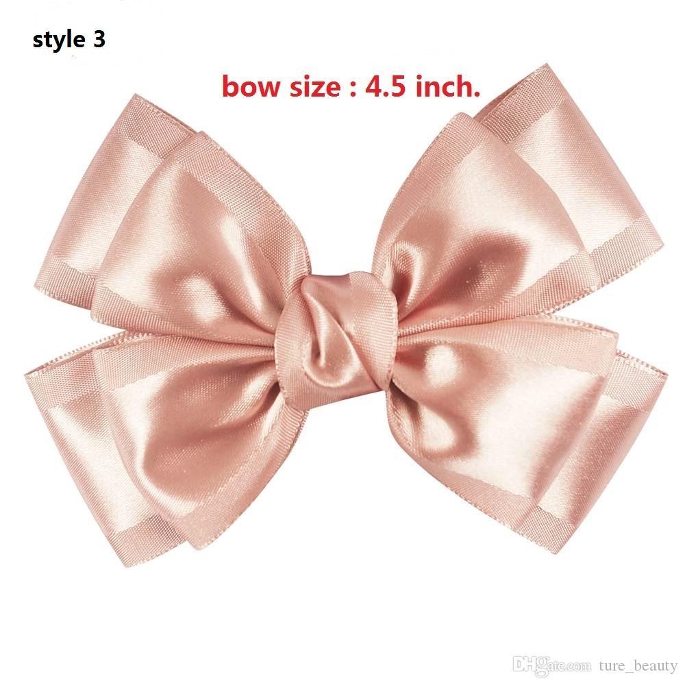 4 Style tillgänglig! 5''Newly Design Handgjorda Dubbelskikt Hårbåge med Boutique Alligator Clips Hårtillbehör för söta tjejer 15st /