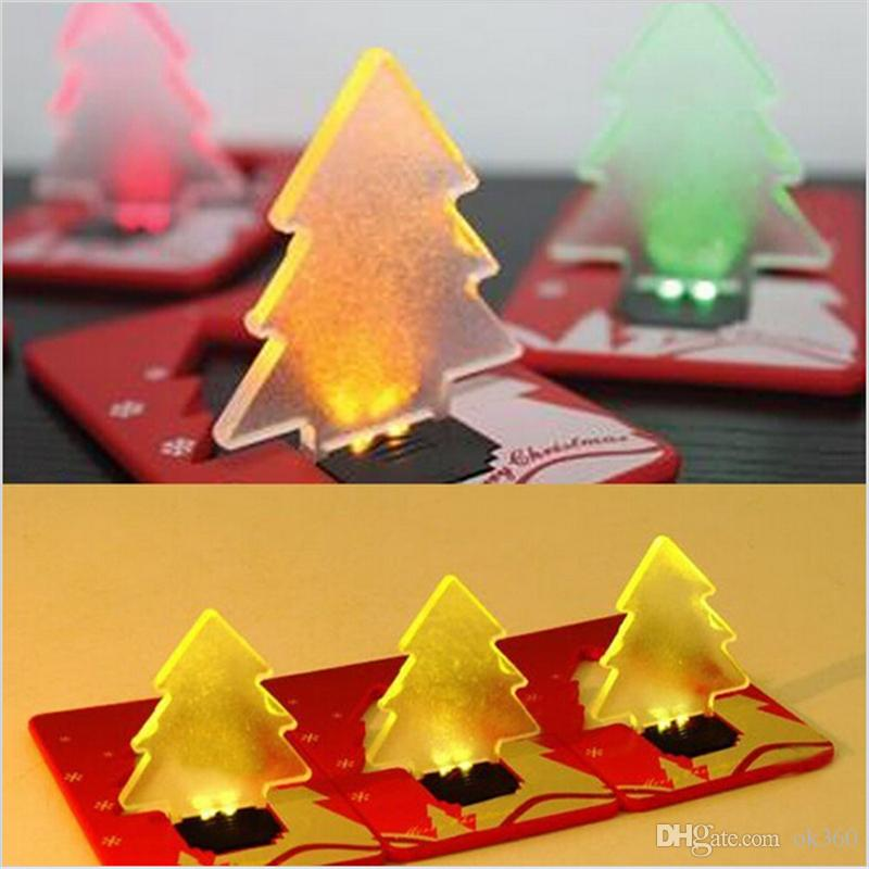 LED creditcard light portable led card pocket lamp,christmas Tree card switch sharp credit card light bulb