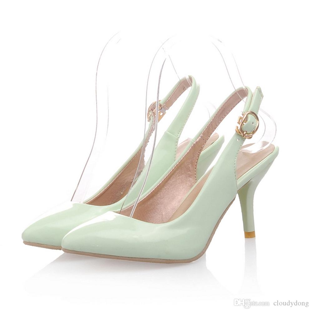 Summer Style Women\'s Dress Shoes 5 Cm Heels Mint Green Women Pumps ...