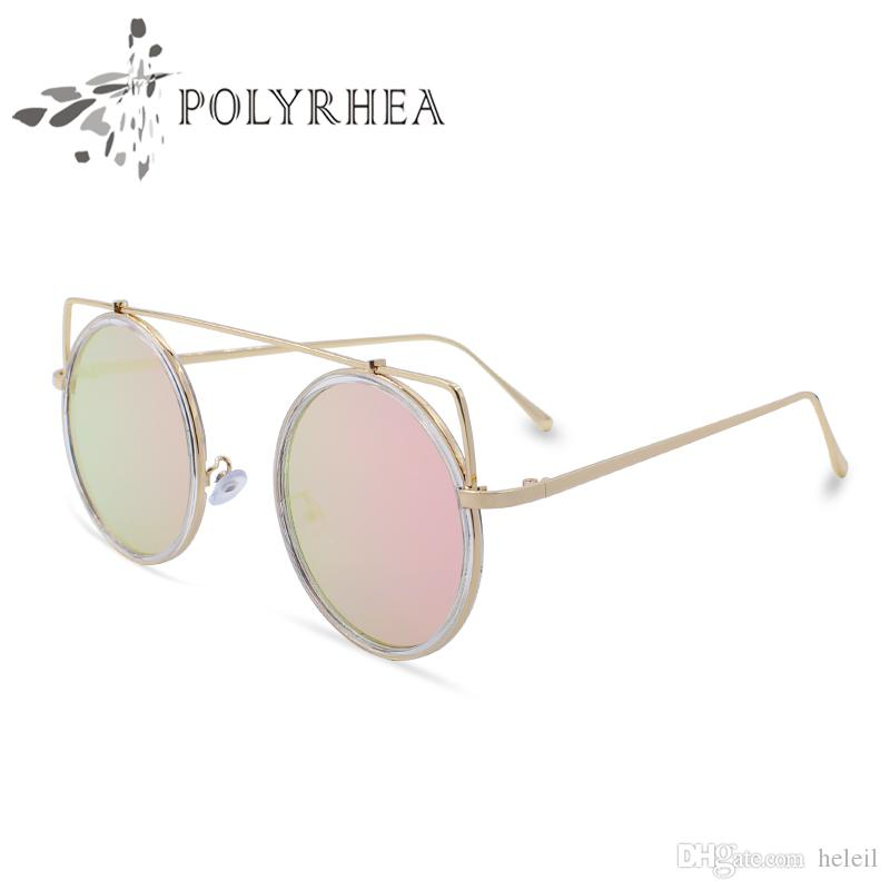 32fa9c36701 2018 Classic Round Sunglasses Luxury Women Brand Designer Coating ...
