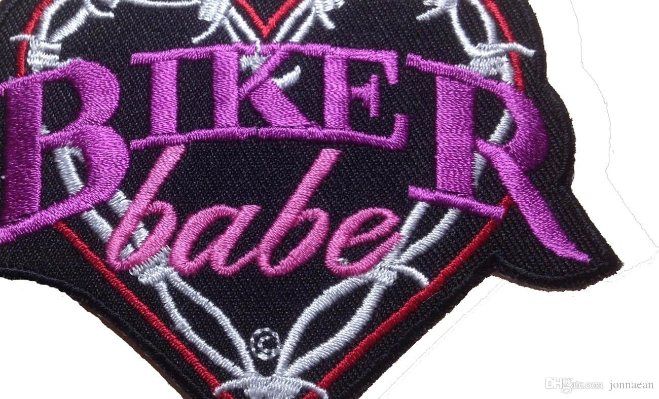 CUSTOM LOW PRICE BIKER BABE EMBROIDERED MOTORCYCLE BIKER MC ROCK IRONSEW LADIES VEST PATCH