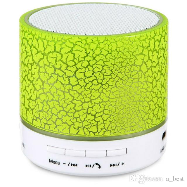 Mini Wireless Bluetooth Speakers Stereo Portable Bluetooth LED Speaker Music Subwoofer With Built-In Mic Support TF Card FM Radio Mp3 Player