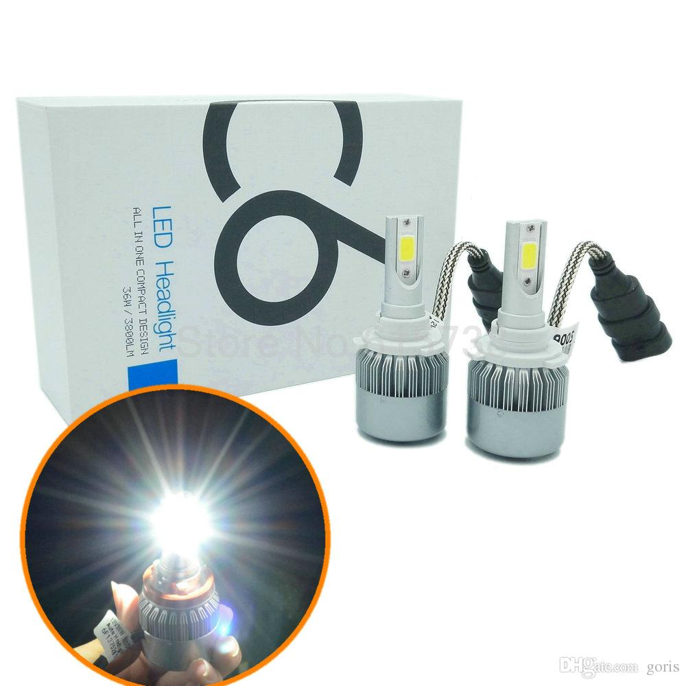2pcs car headlights HB3 9005 led Conversion Kit led projector fog lamp bulb 12V No Gear HID KIT 36W 3800LM easy install