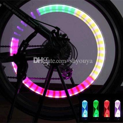 Bright Bike Car Motorcycle Wheel Tire Valve Colorful Gas Nozzle LED Flash Lights Lamps